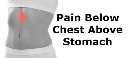 Pain Below Chest Above Stomach