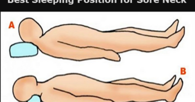 Best Sleeping Position for Sore Neck
